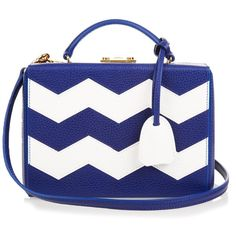 Mark Cross Grace small grained-leather box bag ($2,200) ❤ liked on Polyvore featuring bags, handbags, mark cross handbags, chevron print purse, full grain leather handbags, mark cross and floral bag