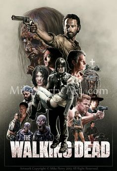 Mike Perry Art. Com: The Walking Dead Season 5 Poster Process...................!!!!