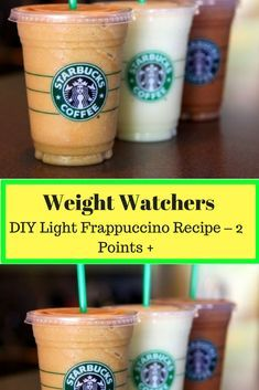 DIY Light Frappuccino Recipe – 2 Points + With smartPoints #weightwatchers #ww #smartpoints