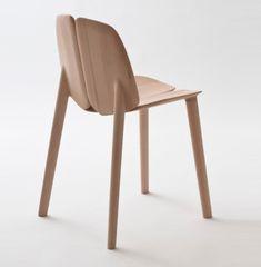 A wooden chair for for Italian brand Mattiazzi by Ronan & Erwan Bouroullec.