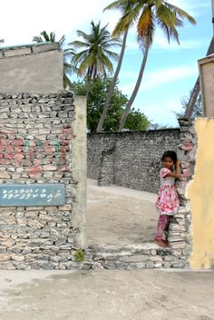 A little girl from her house #maldives #littlegirl #child