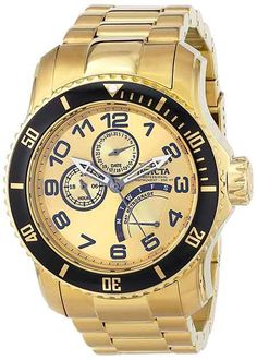 Disclosing The Secrets Of Invicta Men's 15343 Pro Diver 18k Gold Ion-Plated Stainless Steel Watch #Invicta