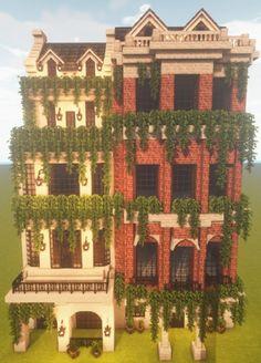 Villa Minecraft, Minecraft Brick, Minecraft House Plans, Minecraft Structures, Minecraft Mansion, Minecraft Cottage, Minecraft House Tutorials, Minecraft Castle, Cute Minecraft Houses