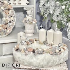 Stunning Christmas Sweater Wreath Advent Candles Decoration Ideas - Page 19 of 55 - Chic Hostess Christmas Advent Wreath, Christmas Candle Decorations, Advent Candles, Christmas Candle Holders, Christmas Candles, Winter Christmas, Christmas Crafts, Advent Wreaths, Table Decorations
