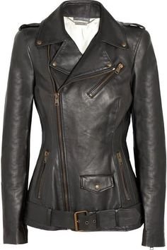 """Feminine Fitted Alexander Mcqueen Leather  #motorcycle Biker Jacket #urban #fashion"""