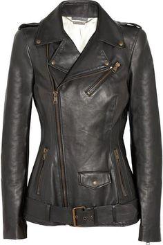 """Feminine Fitted Alexander Mcqueen Leather  #motorcycle Biker Jacket #urban #fashion"""