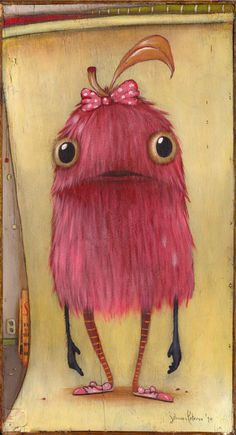 Adorable Monsters by Zozoville! Johan Potma: Now Hold Still. Love Monster, Monster Art, Cute Monsters, Little Monsters, Illustrations, Illustration Art, Whimsical Art, Creature Design, Art Plastique