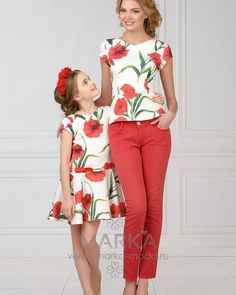 Mommy and Me Fashion / Matching Outfits Mom Daughter Matching Outfits, Mommy Daughter Dresses, Mom And Baby Outfits, Mother Daughter Fashion, Family Outfits, Kids Outfits, Baby Dress, Girl Fashion, Girls Dresses