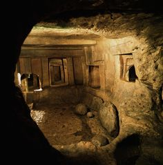 The Hal Saflieni Hypogeum, Malta, 3000-2500 BC--the only intact underground pre-historic temple on earth.