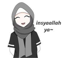 My Daily Hijab by elsticker Emoji People, Islam Beliefs, Allah Islam, Hijab Drawing, Islamic Cartoon, Anime Muslim, Hijab Cartoon, Cute Cartoon Pictures, Funny Emoji