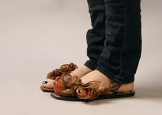 0f609bbe78b5 Our versatile flats styled with a recycled saree tie courtesy of Jhoole. Ribbon  Sandals