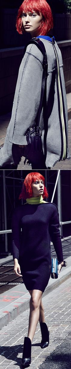 Your future is bright when you're outfitted in futuristic fashions from Alexander Wang's fall 2014 collection.