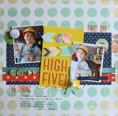 HIGH FIVE! by:マリコ #スクラップブッキング