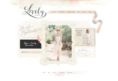 #feminine, scrapbookish #web #design - Lovely Bride by Tabitha Emma