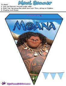 Free Moana Printable Activities & Party Supplies | SKGaleana