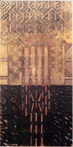 D-21.Sep.1995 182.5x91cm Mixed Media/ paper making, painting, collage on panel 林孝彦 HAYASHI Takahiko 1995                                                                                                                                                                                 もっと見る