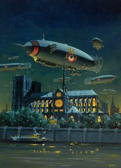 "Dieselpunk:  Manchu: JOUR J #7 ""Vive l'Empereur"" #airship."