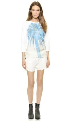 Tess Giberson Palm Tree Sweatshirt