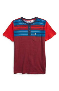 Original Penguin Henley T-Shirt (Big Boys)