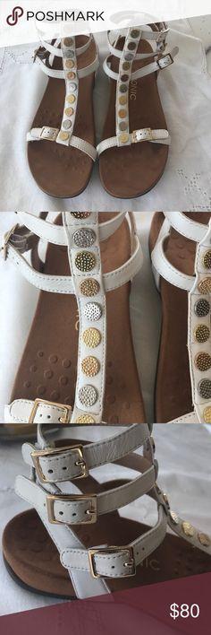 Vionic White Ankle Strap Sandals Vionic White Ankle Strap Sandals worn Once Vionic Shoes Sandals