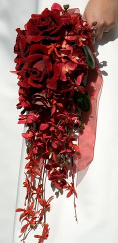 Red Wedding Boquet