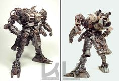 concept robots: Garage kit mech models by Luca Zampriolo