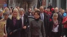 Crown Princess Mary of Denmark and Crown Princess Mette-Marit of Norway share a joint event in Norway. The 2 princesses commemorate the 150th Anniversary of the Battle of Heligoland 1864. May 9, 2014