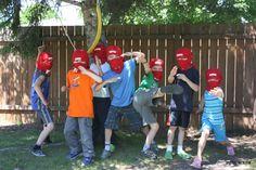 Use T-shirts to make the Ninja Mask