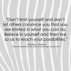 ♥ Thomas S. Monson Quote