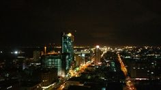 Maputo view from my flat at night