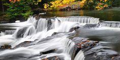 The Real Pure Michigan: 5 Stunning Michigan Waterfalls #travel #roadtrips #roadtrippers