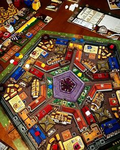"""158 Likes, 3 Comments - Gamer Geeks Making Board Games (@tastyminstrel) on Instagram: """"Photo from @pluckyrobotgames -  Building the city of Belfort. Love this game!  It's a great…"""""""