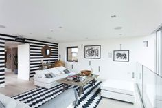 stripe living room