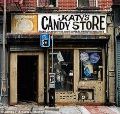 Katy's Candy Store located in Bedford - Stuyvesant, Brooklyn (right) was in business from 1969 - 2007. Photo by James T. & Karla L. Murray