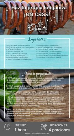 como hacer longaniza   CocinaDelirante Longanisa, Smoked Burgers, Wine Recipes, Cooking Recipes, Homemade Sausage Recipes, Best Mexican Recipes, How To Make Sausage, Smoking Meat, Charcuterie