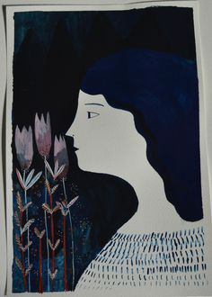 Mary - Original gouache illustration