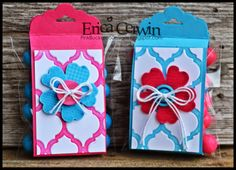 Pink Buckaroo Designs: Tag Topper Punch Treat Holders  http://pinkbuckaroodesigns.blogspot.com/2014/04/tag-topper-punch-treat-holders.html