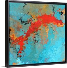 "These brilliantly colorful and bold pieces of abstract art are almost exclusively inspired by commonly endeared Bible verses, like ""Jeremiah 17:7 8"" by Mark Lawrence at GreatBIGCanvas.com"