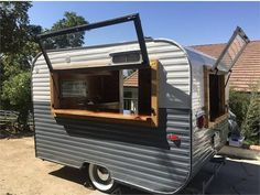 This one of a kind traveling bar is perfect for weddings, parties and anything celebratory. It has two bar windows, 3 sink basin and completely renovated.... Camper Trailer For Sale, Vintage Campers Trailers, Camper Trailers, Pismo Beach, Vintage Bar, Be Perfect, Basin, Shed, The Unit