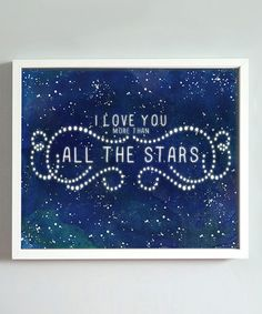 Midnight Blue 'All the Stars' Print by Gus & Lula