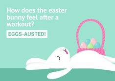 Customize the Funny Eggsausted Workout Easter Bunny Card template and make it match your brand.template and make it match your brand!