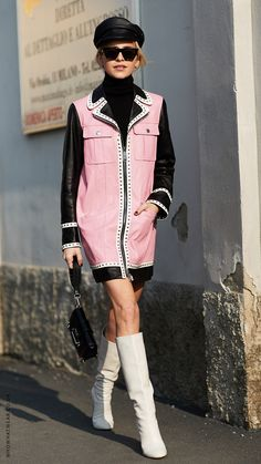 All the outfit inspiration you need from Milan Fashion Week Street Style  Edgy, Street Style 37e1b7f30e7