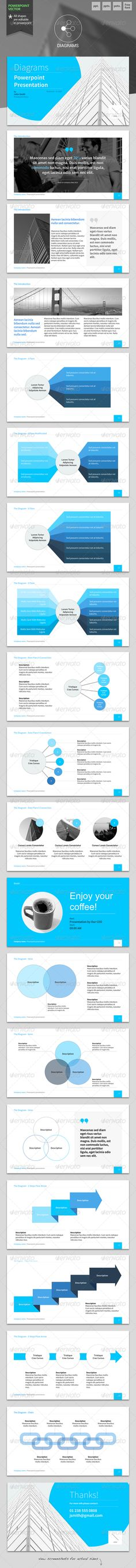 Diagrams - Powerpoint Template #GraphicRiver Shape your ideas into effective presentation!