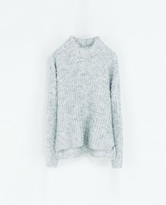 bbce198196 Zara turtleneck sweater Grey Turtleneck