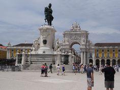 Praça do Comércio met Triomfboog #Lissabon