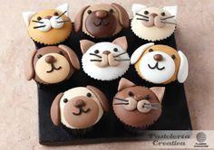 Fascículo 25 de Pastelería Creativa -   Cupcakes con caras de perros y gatos