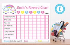 Editable Cloud Reward Chart, Cloud  Birthday, Cloud Baby Shower, Instant Download, YOU PRINT Diy Shops, How To Make Bed, Party Printables, Save Yourself, Great Gifts, Handmade Items, Baby Shower, Clouds, Chart
