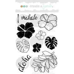 Create A Smile ALOHA SPIRIT Clear Stamp CLCS1 at Simon Says STAMP!