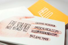 A cheerful mailer with eye-catching typography.    {Self Promotion Mailer by Pat Schlaich, via Behance}