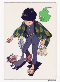 Favorite tweet by @sima_sea Psycho 100, Mob Psycho, Jojo's Bizarre Adventure, Character Art, Character Design, Mob Physco 100, Demon Slayer, Kageyama, One Punch Man
